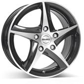 Автомобильный колесный диск R16 5*108 101 dark BP - W7 Et48 D70.1