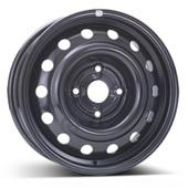 Автомобильный колесный диск R14 4*114,3 Alcar-6555 Black - W5.5 Et44 D56.6