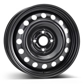Автомобильный колесный диск R15 4*100 Alcar-7530 (Kia Rio) Black - W5.5 Et36 D54.1