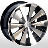 Автомобильный колесный диск R16 5*98 / 5*114,3 ALLANTE-121 BF - W7 Et35 D73.1
