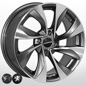 Автомобильный колесный диск R16 4*108 ALLANTE-5070 GMF (Citroen, Peugeot) - W6.5 Et17 D65.1