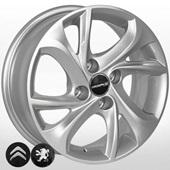 Автомобильный колесный диск R15 4*108 CN-1106 S (Citroen, Peugeot) - W6.0 Et23 D65.1