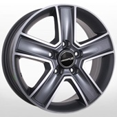 Автомобильный колесный диск R16 5*160 FD-1814 GP (Ford) - W6.5 Et60 D65.1