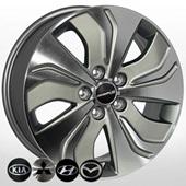 Автомобильный колесный диск R17 5*114,3 HY-2421 GMF - W6.5 Et46 D67.1
