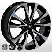Автомобильный колесный диск R17 5*114,3 HY-2429 BP - W7.0 Et40 D67.1