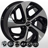 Автомобильный колесный диск R17 5*114,3 HY-2440 BP - W7.0 Et51 D67.1
