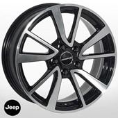 Автомобильный колесный диск R16 5*110 J-6344 BP (Jeep) - W6.5 Et40 D65.1
