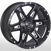 Автомобильный колесный диск R16 6*139,7 JH-Dark12 MattBLACK - W8.5 Et0 D106.1