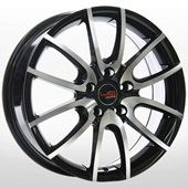 Автомобильный колесный диск R16 5*114,3 NS508 BKF (Nissan, Renault) - W6.5 Et40 D66.1