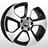 Автомобильный колесный диск R16 5*112 VV150 BKF (Volkswagen) - W6.5 Et33 D57.1