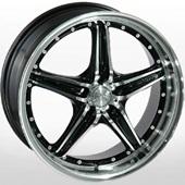 Автомобильный колесный диск R17 4*108 LG 208 FMBK - W7 Et40 D73.1