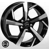 Автомобильный колесный диск R17 5*114,3 NS-4002 BP (Nissan, Renault) - W7.5 Et40 D66.1