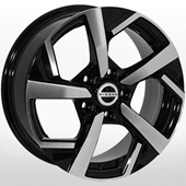 Автомобильный колесный диск R16 5*114,3 NS-4004 BP (Nissan, Renault) - W6.5 Et40 D66.1