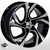 Автомобильный колесный диск R17 5*114,3 NS-4007 MB (Nissan, Renault) - W7.5 Et40 D67.1