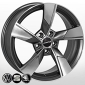 Автомобильный колесный диск R17 5*112 SK-5008 GMF (Skoda, VW) - W7.0 Et40 D57.1