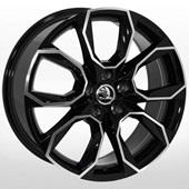 Автомобильный колесный диск R18 5*112 SK-5027 BP (Skoda, VW, Seat) - W8.0 Et45 D57.1