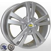 Автомобильный колесный диск R15 4*100 TRW-Z614 S (Chevrolet, Daewoo, Opel) - W6 Et44 D56.6