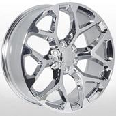 Автомобильный колесный диск R20 6*139,7 ZF-6701 Chrome - W9.0 Et31 D78.1