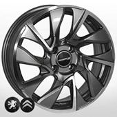Автомобильный колесный диск R16 4*108 ZF-FR641 GMF (Citroen, Peugeot) - W6.5 Et25 D65.1
