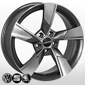 Автомобильный колесный диск R17 5*112 ZF-SK522 GMF (Skoda, VW) - W7.0 Et40 D57.1