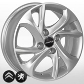 Автомобильный колесный диск R15 4*108 ZF-TL4010 S (Citroen, Peugeot) - W6.0 Et23 D65.1