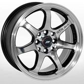 Автомобильный колесный диск R15 4*98 / 4*108 ZW-356 BP - W6.5 Et25 D67.1