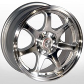 Автомобильный колесный диск R15 4*98 / 4*114,3 ZW-356 SP - W6.5 Et38 D67.1