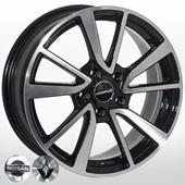 Автомобильный колесный диск R17 5*114,3 ZW-6344 BP (Nissan, Renault) - W7.0 Et40 D66.1