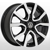 Автомобильный колесный диск R15 5*100 ZW-7365 BP (VW, Skoda) - W6.0 Et40 D57.1