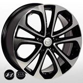 Автомобильный колесный диск R17 5*114,3 ZW-7688 BP - W7.5 Et50 D67.1