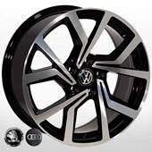 Автомобильный колесный диск R14 5*100 ZW-BK5125 BP (Skoda, Seat, VW) - W6.0 Et35 D57.1