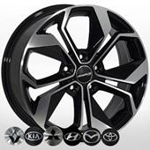Автомобильный колесный диск R17 5*114,3 ZW-BK5168 BP - W7.0 Et45 D67.1