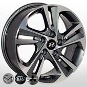 Автомобильный колесный диск R16 5*114,3 ZW-BK5210 GP - W6.5 Et50 D67.1