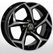 Автомобильный колесный диск R15 5*100 ZW-BK5340 BP (Skoda, Seat, VW) - W6.0 Et35 D57.1