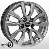 Автомобильный колесный диск R17 5*114,3 ZW-BK5504 HB (Nissan, Renault) - W7.0 Et40 D66.1