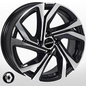 Автомобильный колесный диск R16 4*100 BK5762 BP (Renault) - W6.5 Et37 D60.1