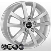 Автомобильный колесный диск R16 5*112 ZW-BK711 S - W6.5 Et50 D57.1