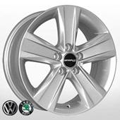 Автомобильный колесный диск R14 5*100 ZY-492 S (Skoda, VW) - W6 Et38 D57.1