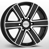 Автомобильный колесный диск R16 6*139,7 TJ Black Polished - W8 Et35 D67.1