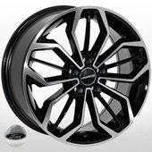 Автомобильный колесный диск R16 5*108 FD-1816 BP (Ford) - W6.5 Et50 D63.4