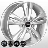Автомобильный колесный диск R17 5*114,3 HY-2415 S - W6.5 Et48 D67.1