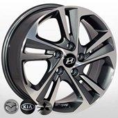 Автомобильный колесный диск R16 5*114,3 HY-2428 GP - W6.5 Et50 D67.1