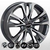 Автомобильный колесный диск R17 5*114,3 HY-2430 GP - W7.0 Et45 D67.1