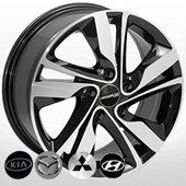 Автомобильный колесный диск R15 5*114,3 HY-2437 BMF - W6.0 Et45 D67.1