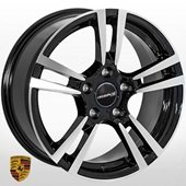 Автомобильный колесный диск R18 5*130 PR-00342 BP (Porsche) - W8.0 Et50 D71.6