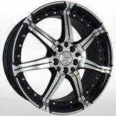 Автомобильный колесный диск R17 4*100 / 4*114,3 KR518 BKF - W7.5 Et42 D67.1
