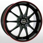 Автомобильный колесный диск R17 4*100 / 4*114,3 KR656 JRBK - W7.5 Et45 D73.1