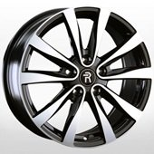 Автомобильный колесный диск R17 5*114,3 NS221 BKF (Nissan, Renault) - W7.0 Et40 D66.1