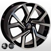 Автомобильный колесный диск R14 5*100 VW-5626 BP (VW, Skoda, Audi) - W6.0 Et35 D57.1