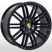 Автомобильный колесный диск R21 5*130 PR-1367 BLACK (Porsche) - W10.0 Et50 D71.6